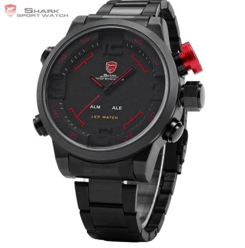 harga Jam gulper shark sh105 sport watch digital dual led Tokopedia.com