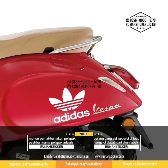 harga Sticker cutting adidas decal body samping tepong vespa Tokopedia.com