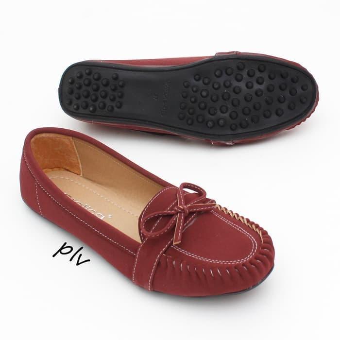 sepatu cewek Sepatu Flat Shoes Murah Gratica RJ28 Maroon
