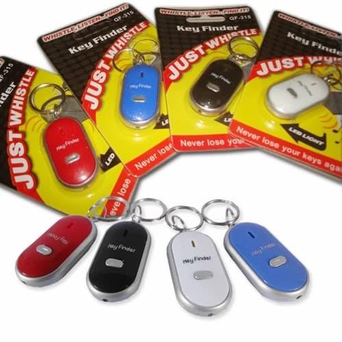 Gantungan Kunci Siul / Whistle Key Finder - Merah