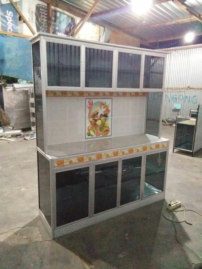 Jual Lemari Dapur Aluminium Kompor Genuk Perlengkapan Dapur Tokopedia