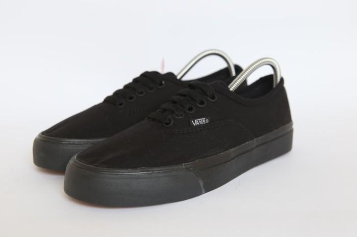 Jual Sepatu Vans Authentic Full Black Full Hitam  Hitam Waffle ICC ... 472fd47742