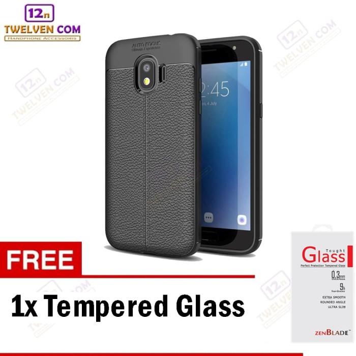 Case Auto Focus Softcase Samsung J2 Pro 2018-Hitam+Free Tempered Glass