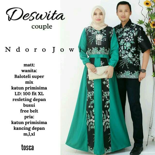 Jual Batik Couple Deswita Sarimbit Gamis Deswita Hijau Tosca L Kota Surakarta Sie Jack Clothing Store Tokopedia