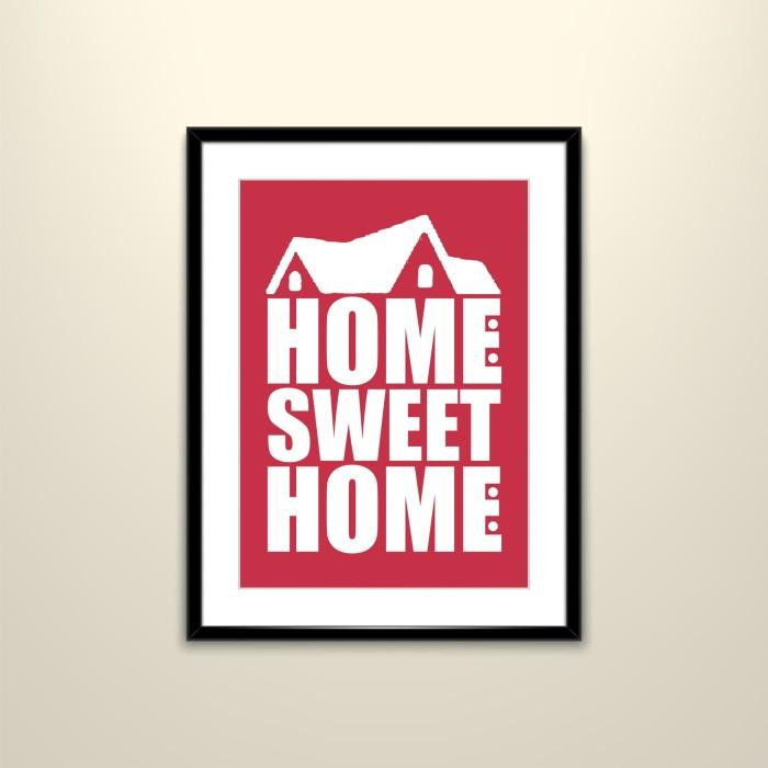 Jual Poster Home Sweet Home Kota Kediri Tiga Art Tokopedia