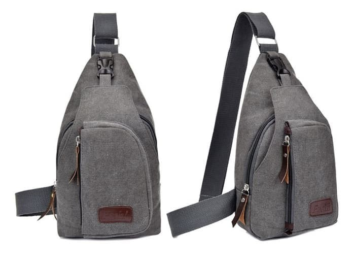 Men Sling Shoulder Bags / Bodypack Bag Tas Selempang Pria Bahan Jeans