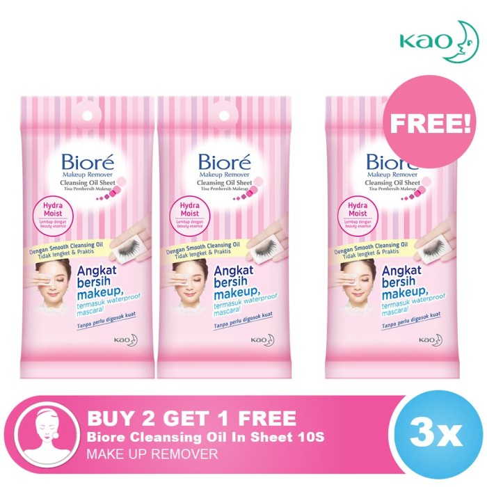 Jual BUY 2 GET 1 FREE Biore Cleansing Oil In Sheet 10S
