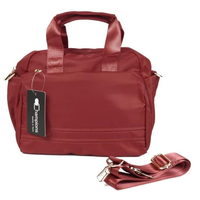 Tas Selempang Wanita Import Champions 1825 Hand Bag Sling Bag Tas Bahu -  Maroon e1a20df2e3