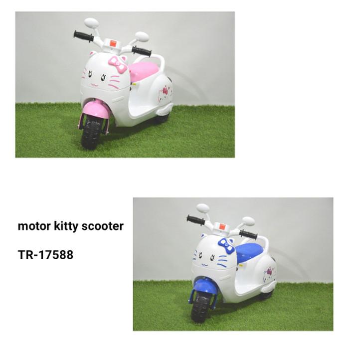 harga Mainan motor aki junior kitty scooter tr-17588 khusus gojek Tokopedia.com