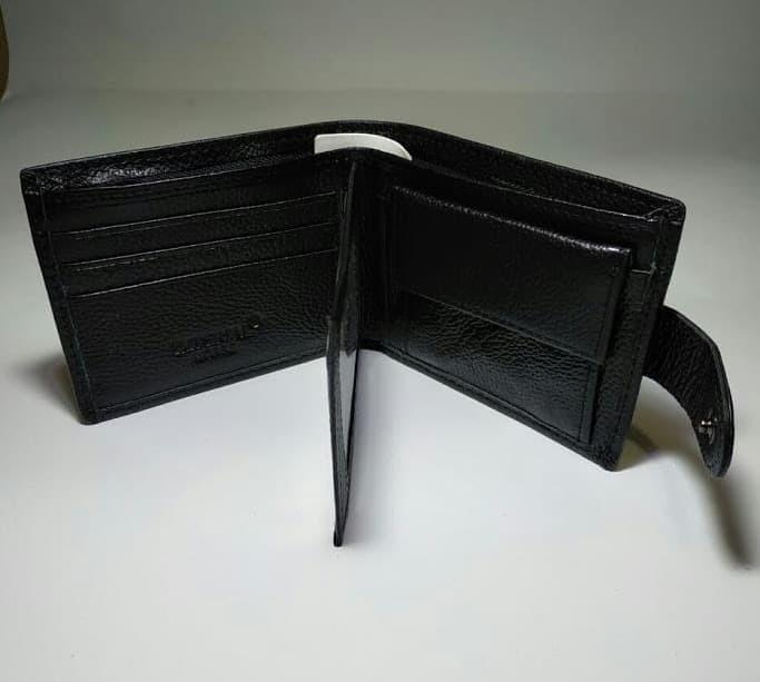 Imperial Horse Dompet Pria Kulit Asli Black Men's Wallet Model Kancing