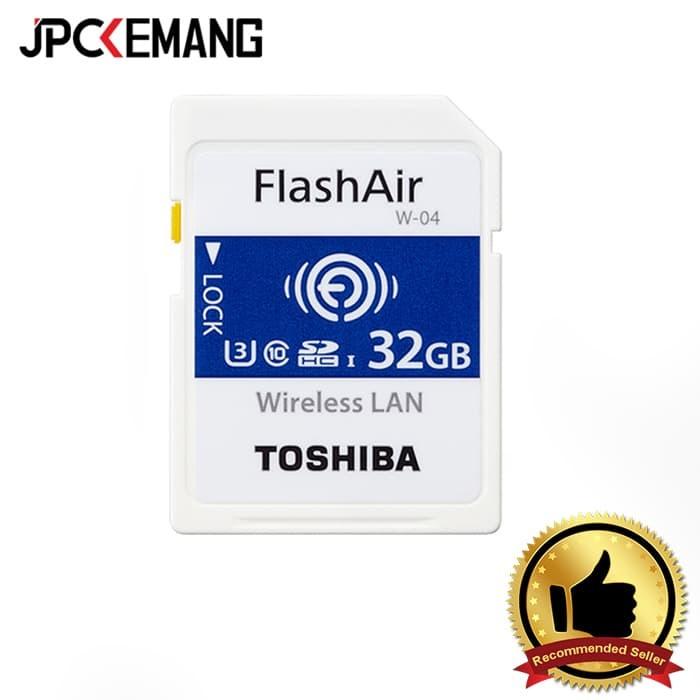 harga Toshiba flash air sdhc 32gb class 10 (read 90mbs write 70mbs) w-04 Tokopedia.com