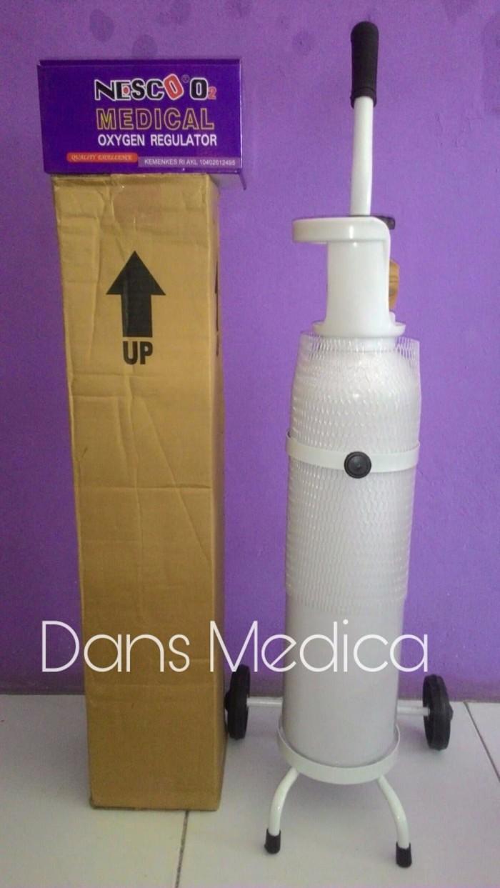 Jual Barang Berkualitas Tabung Oksigen 1 Set 1m3 Putrigendispedia M3 Regulator Troli