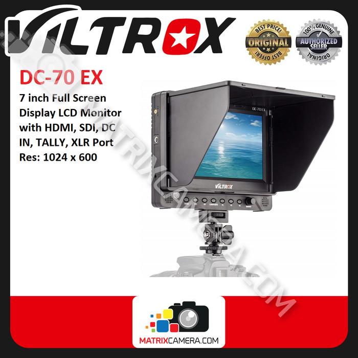 Foto Produk Viltrox DC-70EX / DC-70 EX 7 inch HDMI SDI AV LCD Monitor Display dari MatrixCamera