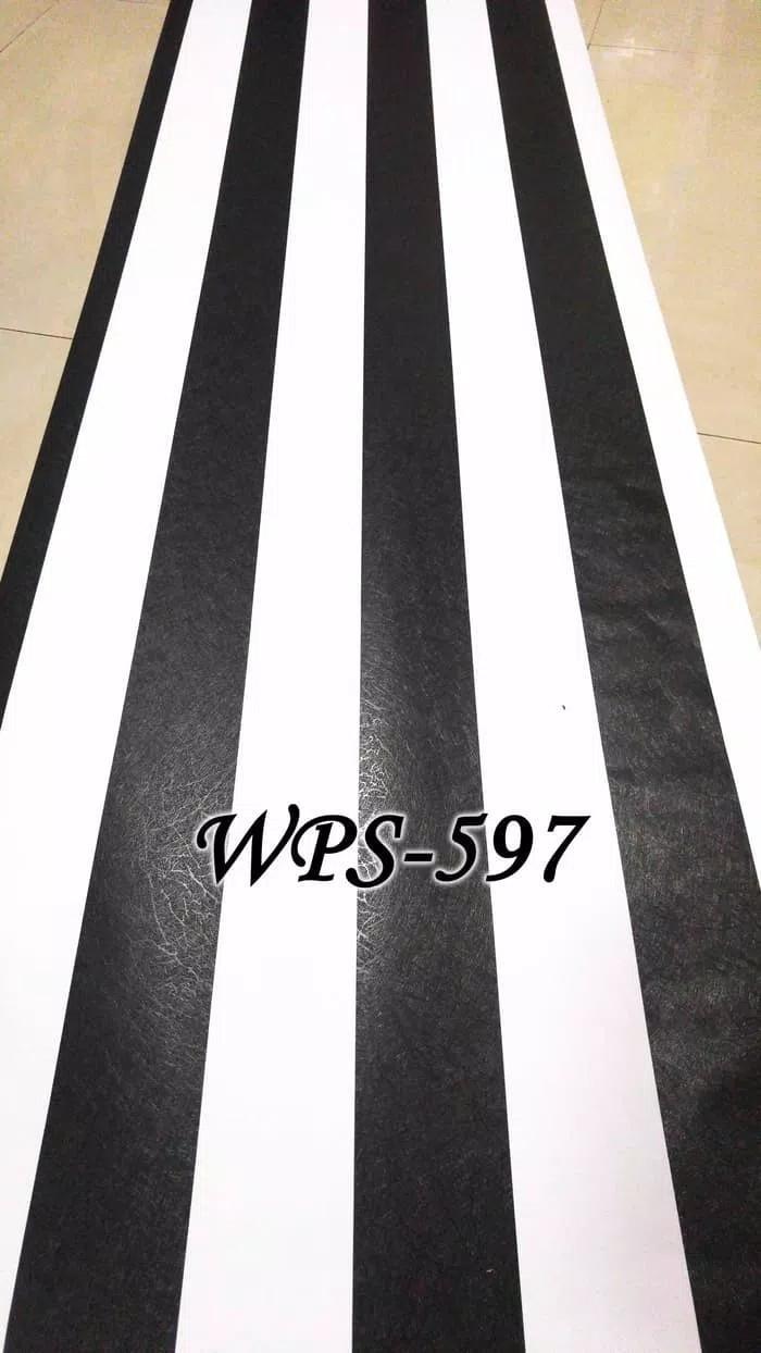 Jual Wallpaper Salur Hitam Putih Wallpaper Dinding Dekorasi Rumah Kab Bandung BelanjaWallpaper