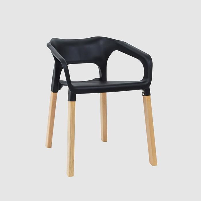 stark chair / oslo / kursi kantor / kursi restoran / kursi kayu - hitam