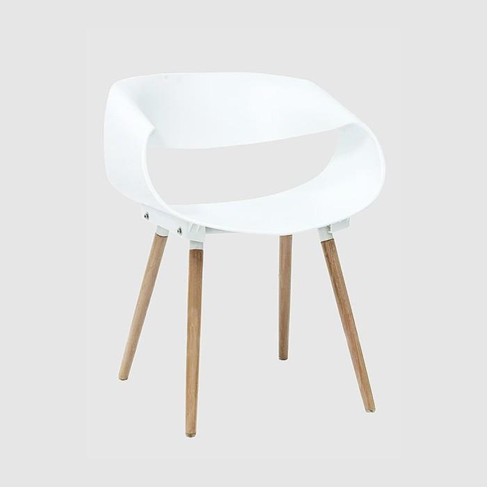 stockholm / oslo / kursi kantor / kursi restoran / kursi kayu - putih - hitam