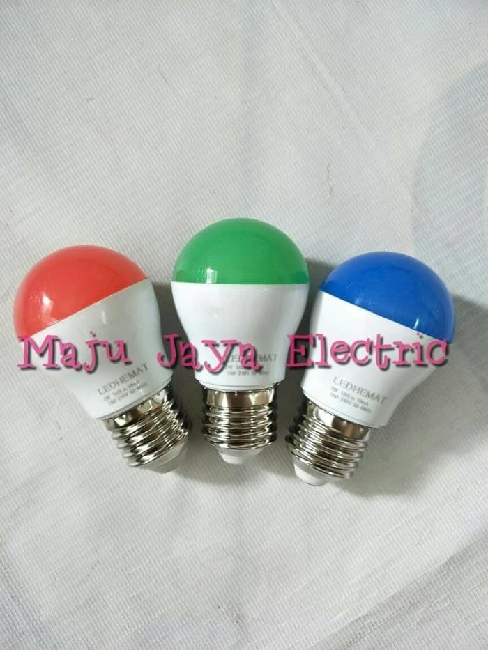 Bohlam Lampu LED Hias Tidur 2 w Watt Hemat Energi Warna Warni 2w 2Watt