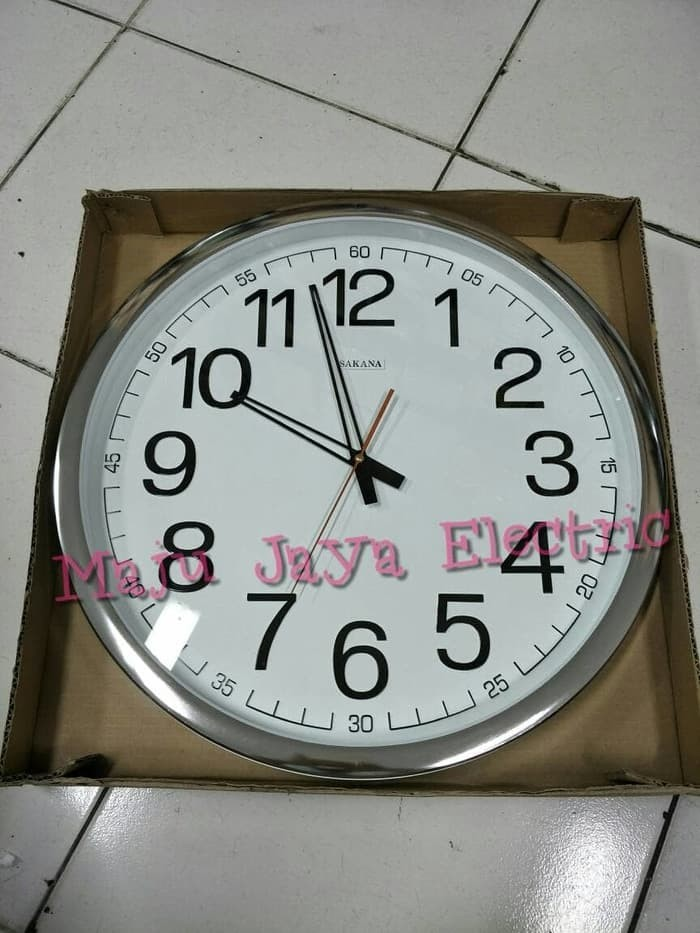 Jam Dinding Sakana Besar ( Mesin 12888 )Diameter 50 cm Sentimeter 50cm b2a11a889d