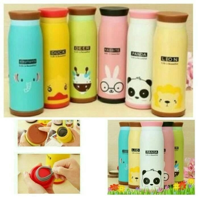 Termos Botol Minum Karakter Animal 500 ML Stainless Steel Memo Bottle