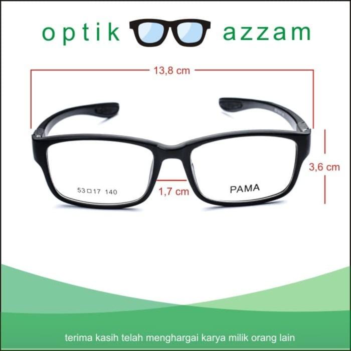 ... Frame Kacamata Wanita Pria Minus Antiradiasi Pama Ganti Lensa - Hitam -  Blanja.com ... d9b554dd8b