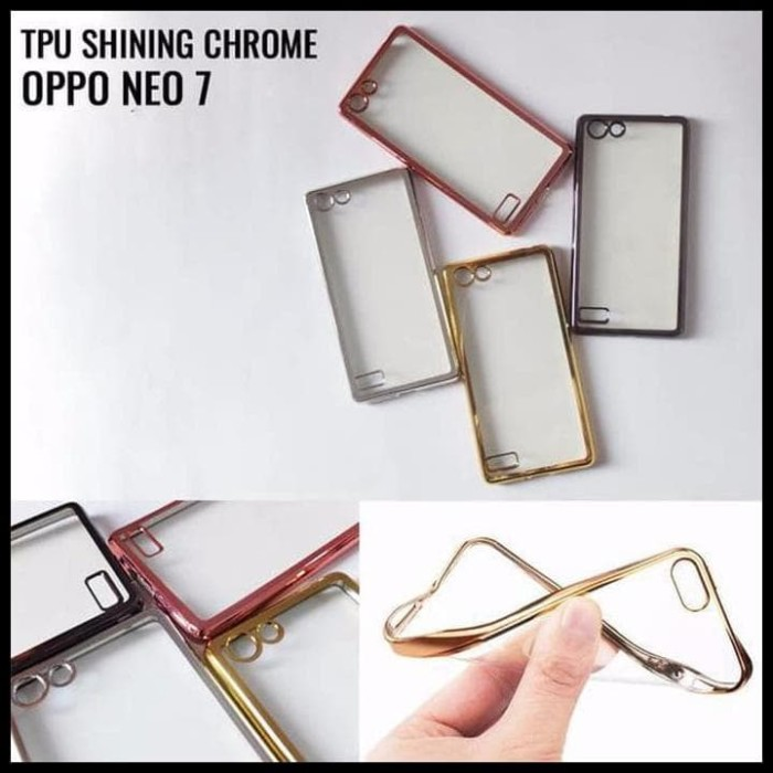 CASE / CASING HP TPU SHINING CHROME OPPO NEO 7 A33 ULTRATHIN