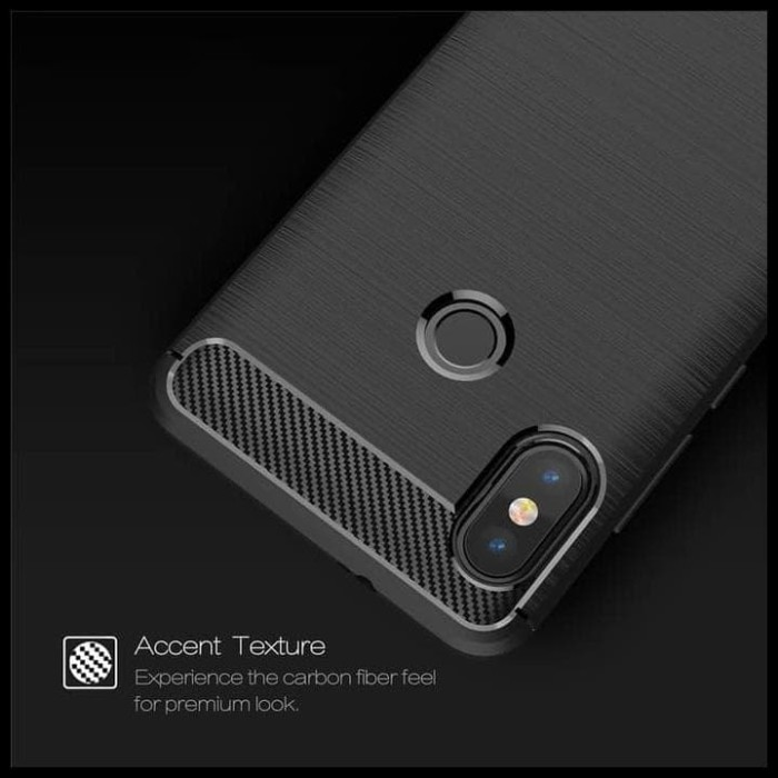 CASE / CASING HP XIAOMI REDMI NOTE 5 IPAKY CARBON SOFT SERIES