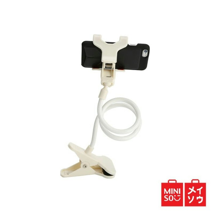 Miniso Official Phone Stand Lazy Pod Smartphone - Putih