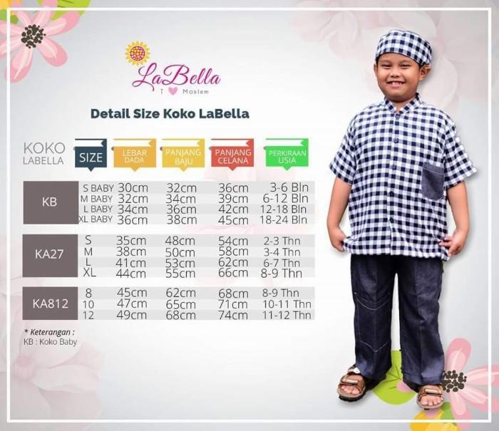 (3-24 bulan) KB NB 16 Baju Muslim Anak Setelan Koko Bayi LaBella Biru 1