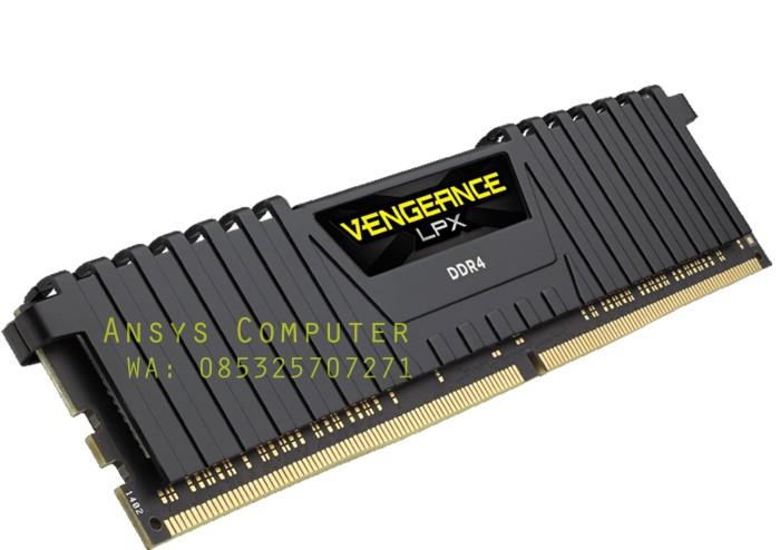 RAM Corsair Vengeance LPX 16GB DDR4 Black (CMK16GX4M1A2400C16)