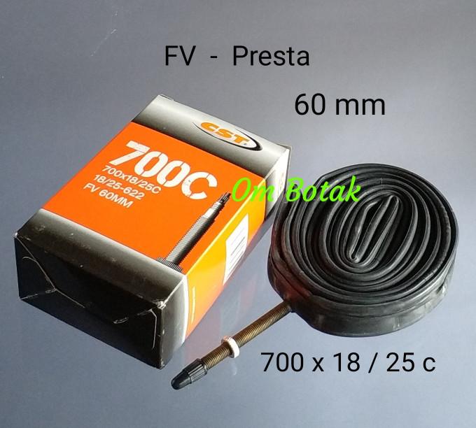 harga Ban dalam cst 700 x 18 -25 c (presta) - fv - 60 mm. sepeda fixie balap Tokopedia.com