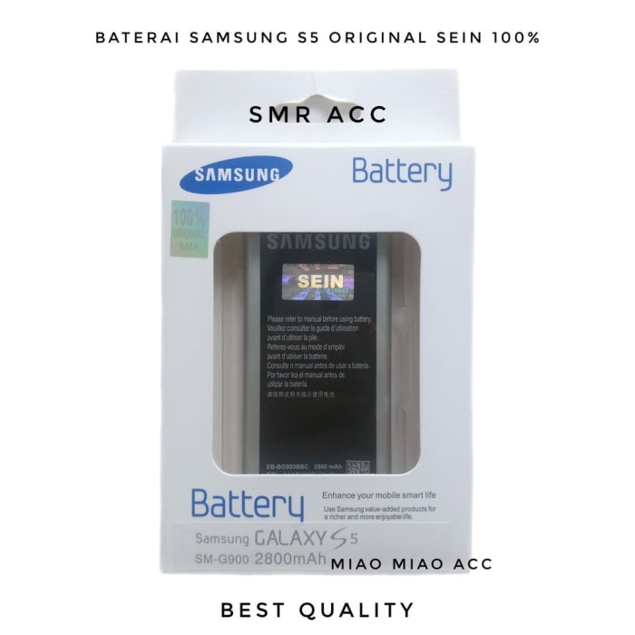 Batre Battery Baterai Samsung Galaxy S5 G900 I9600 Original SEIN Sam