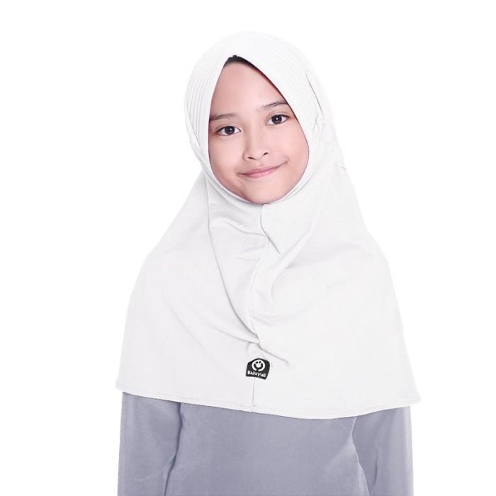 BAJUYULI - Kerudung Jilbab Anak Murah Polos Basic Adem Putih GYT