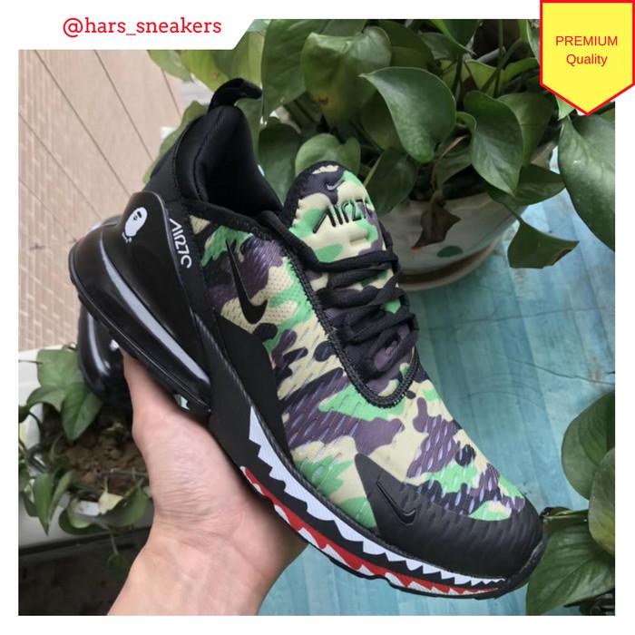 Jual Sepatu Nike Air max 270 x Bathing Ape BAPE Camo Green Premium Quality DKI Jakarta HarsoyoEko Store   Tokopedia