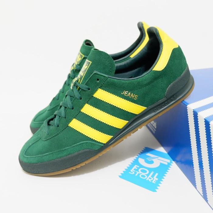 Adidas Jeans Green Stripe Yellow (BNIB