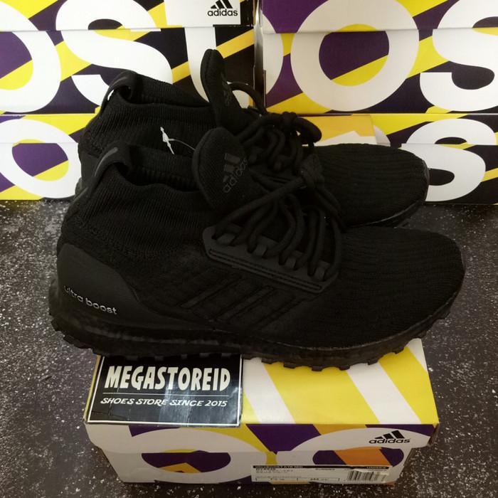 a879b18067f39 Jual Sepatu Adidas Ultraboost MID ATR Triple Black UA ORIGINAL BASF ...