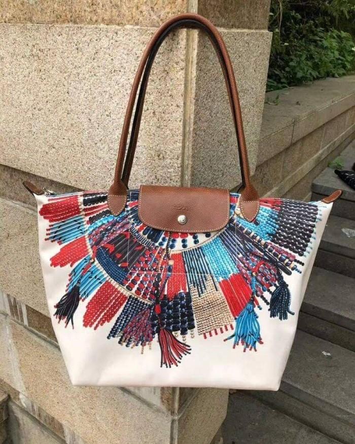 4061cbbdc98b Jual Longchamp Le Pliage Collier Massai Tote (100% ORIGINAL) - Kota ...
