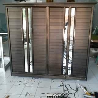 Desain Lemari Pakaian Aluminium - Contoh Desain Furniture