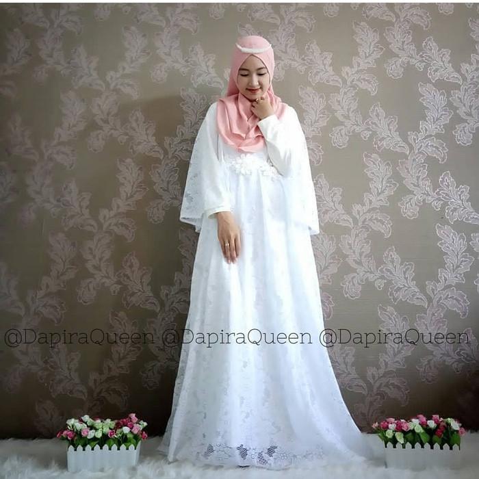 Jual Maxi Long Dress Brukat Kebaya Wisuda Kiara Princess Beige Kota Tangerang Gashani Store Tokopedia