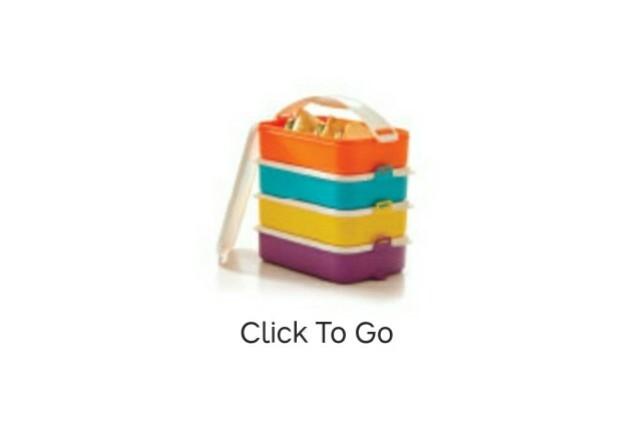 Click To Go - rantang 4 susun tupperware best seller