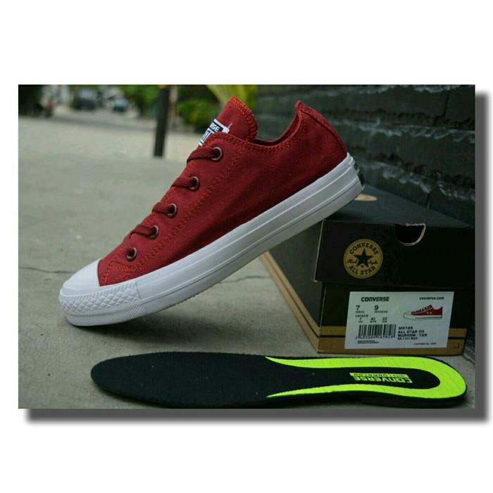 31389e31f817 Jual Sepatu converse maroon ct 2 low made in vietnam - Maroon