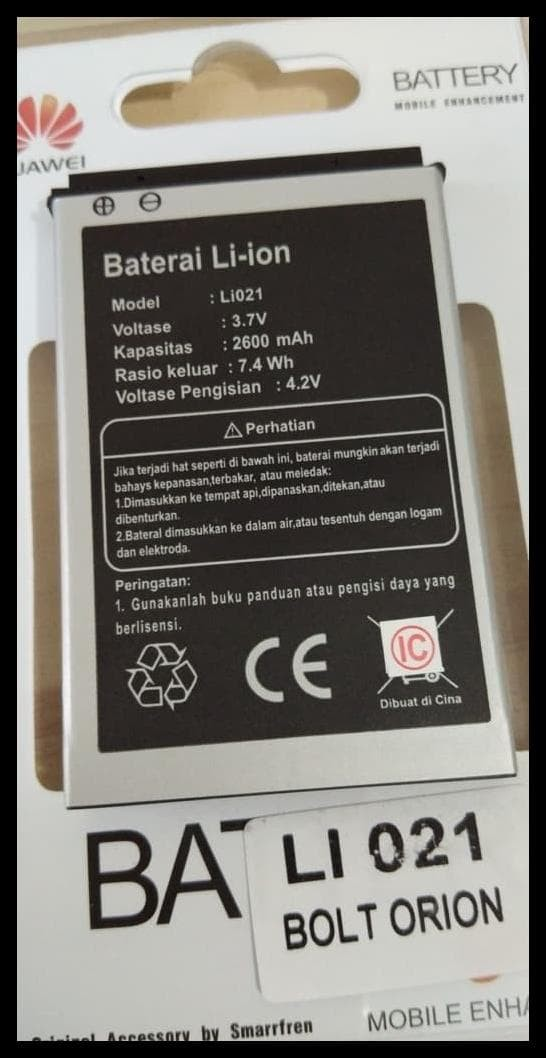 Baterai Batre Batere Battery Modem Bolt Bold Orion Movimax Mv1 Li021