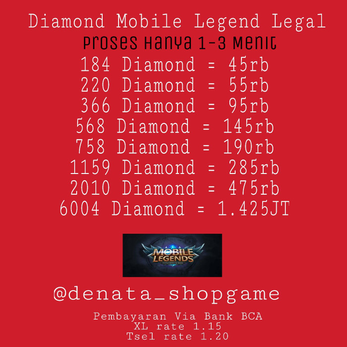 758 Diamond Mobile Legend