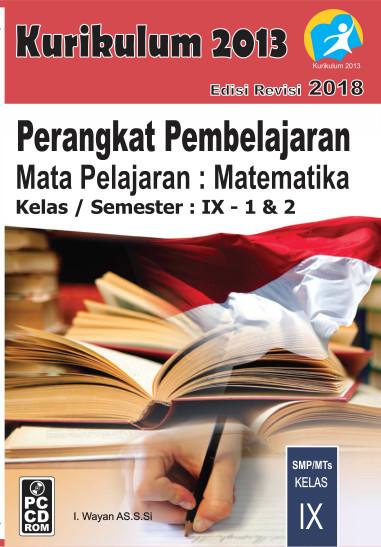 Foto Produk CD RPP Matematika Kelas 9 Kurikulum 2013 Revisi 2018 dari ti Tasik Com