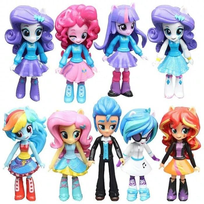 Jual Mainan Anak Figure Boneka My Little Pony Equestria Girls Isi 9 ... 399b217e9f