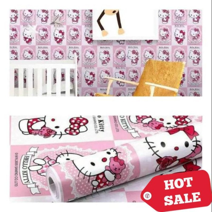 Jual Wallpaper Dinding Murah Ruang Tamu Kamar Tidur Anak Hello Kitty