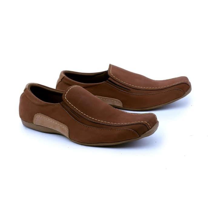 harga Garsel sepatu casual pria dewasa suede coklat grf 1612 Tokopedia.com