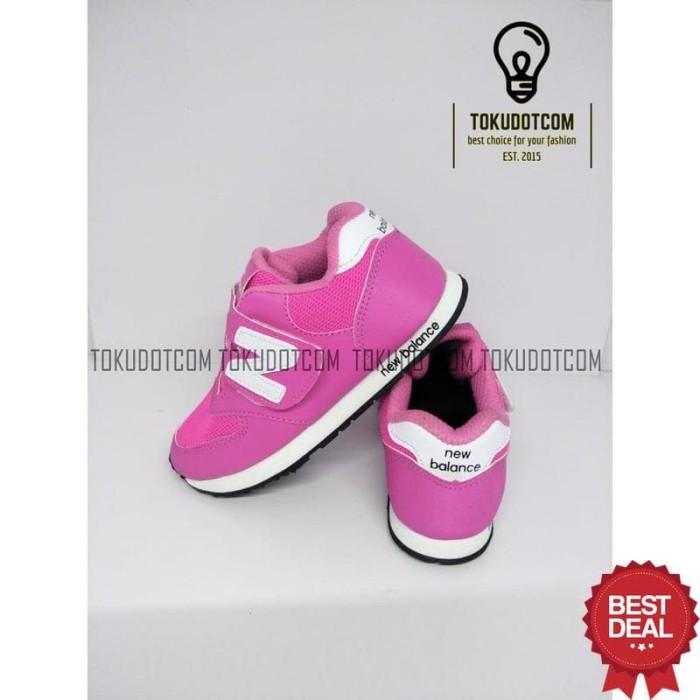 Sepatu sekolah anak NB keren murah Pink Putih NB-12 c505f8b677