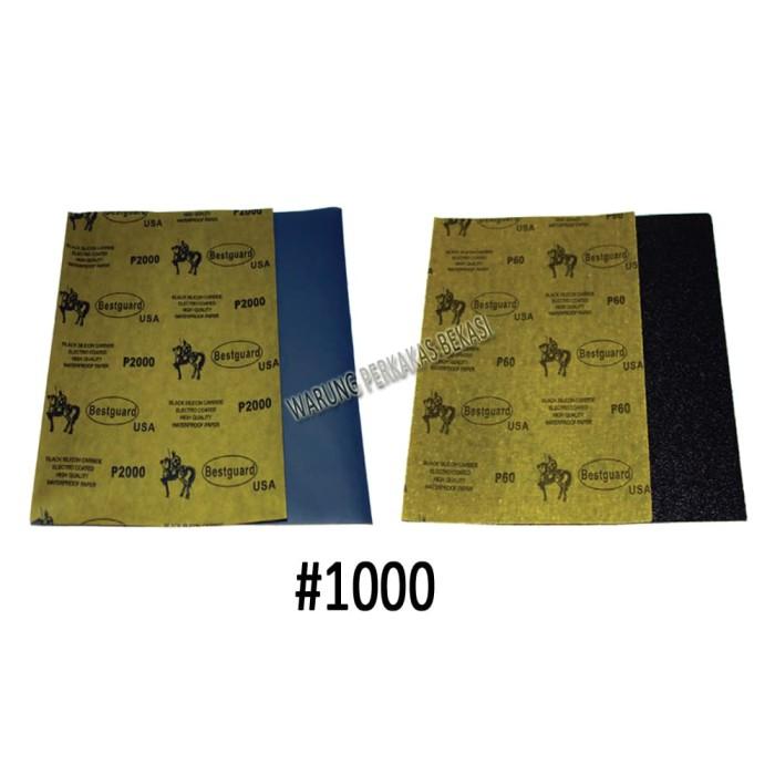 Bestguard Amplas Kertas Pasir Waterproof Paper High Quality 1Pcs #1000