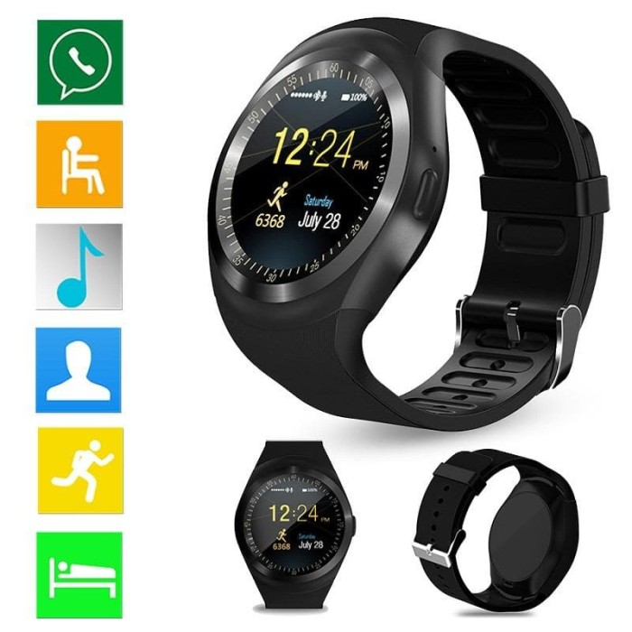 Smartwatch jam tangan pintar hp pintar waterproof anti air telepon sms