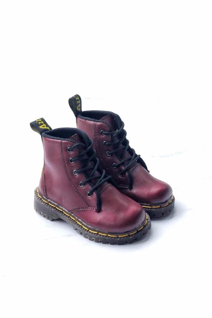 harga Sepatu boots docmar anak maroon Tokopedia.com